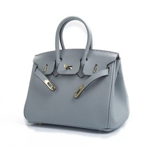 HANYUNA BRAND New Fashion Popular Lichee Pattern Cow Leather Birkins Ladies' Hand Bag Single Shoulder Female Bag