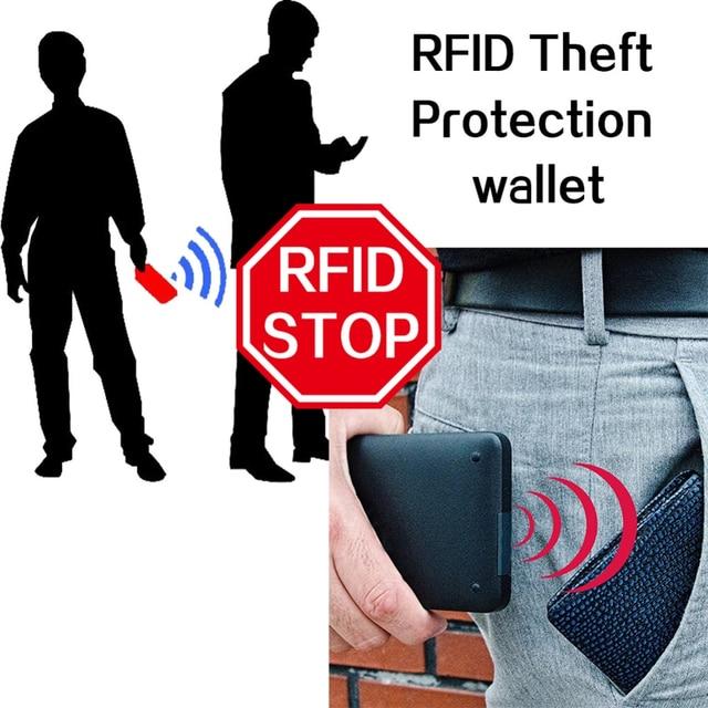 2019 Fashion Rfid Men Wallets Mens Wallet with Coin Bag Zipper Small Mini Wallet Purses New Design Dollar Wallet Slim Money Bag 5