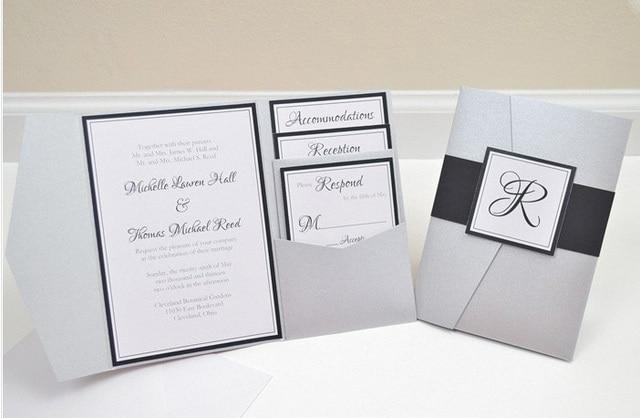 34ff14502b0e3 CA0609 Fully Assembled Pocketfold Wedding Invitations-in Cards ...