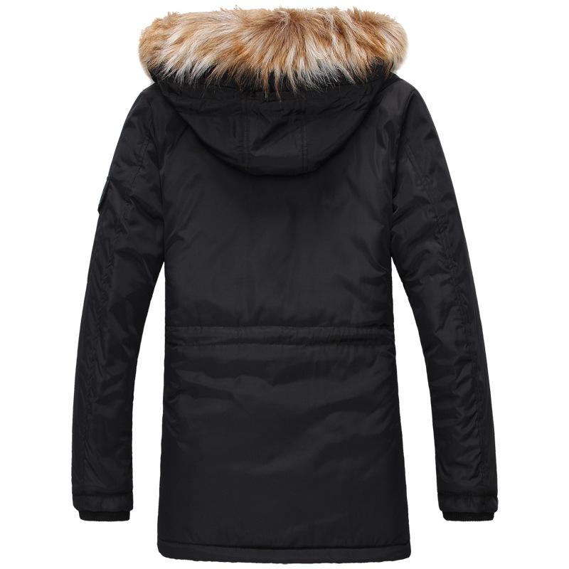 Jackets Men Fur Hooded Warm Men Coats Winter Jacket Men Thick Outwears Long section Coat XH88 6881 c012