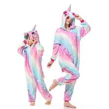 9ef226e39980a Kigurumi pyjama licorne pour noël famille garçons fille pyjamas hiver chaud  Animal enfants pijamas vêtements de