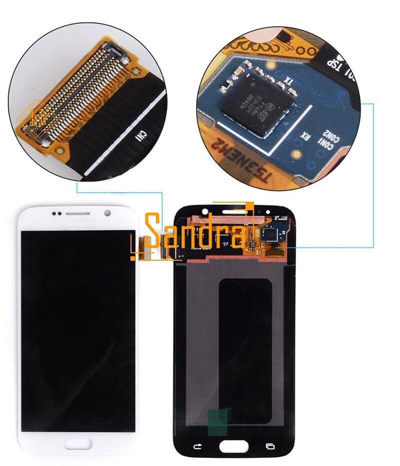 Nouvelle marque 1 pièces 5.1 ''S6 écran lcd HH Pour samsung galaxy S6 G920 G920F G920V G920A écran lcd avec écran tactile remplace + outils