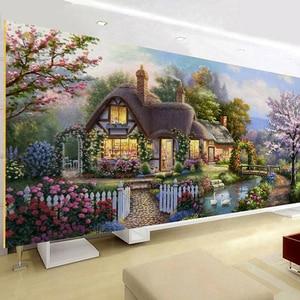 Image 3 - QIANZEHUI peinture paysage, couture bricolage même, point de croix, cabane de jardin rêve, point de croix, ensembles pour kit de broderie