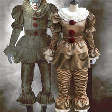Stephen King's It Pennywise Cosplay Costumes effrayant Joker costume fantaisie séparé masque Halloween fête adulte hommes femmes Clown masques(China)
