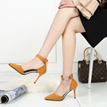 2017 New Fashion Black Red Yellow Shoes Woman Zapatos Mujer High Heel Sexy  Women Pumps Pointed Toe Shoes Sapatos De Salto Alto