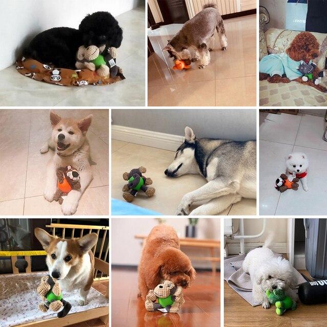 HOOPET-jouets pour chiens danimaux   Jouet pour chiens, chiot pour grands chiens, fourniture de boules pour chiens interactives en peluche