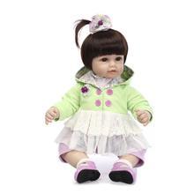 Lovely bebe girl reborn 20″ 50cm soft silicone reborn baby dolls princess dress children gift dolls real bonecas