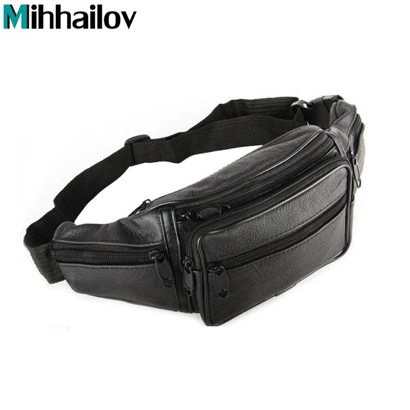 2017 travel bags mens leather belt bag waist pack