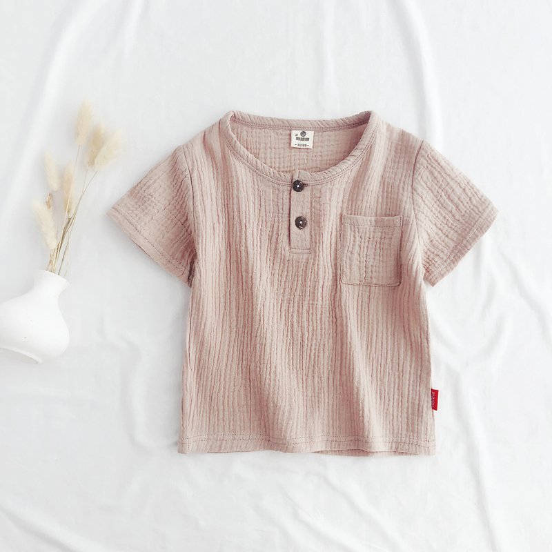 Kids Summer 2019 Cotton Baby Boy Summer T Shirts Short Sleeve T shirt Baby Boys Comfortable Casual Tees Clothes LZ200