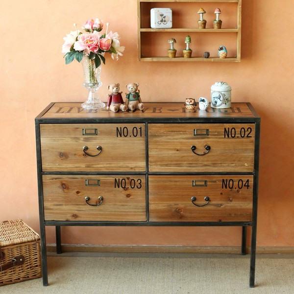 American Country To Do The Old Lockers Antique Sideboard Cabinet Storage Cabinets Wood Cupboards Iron