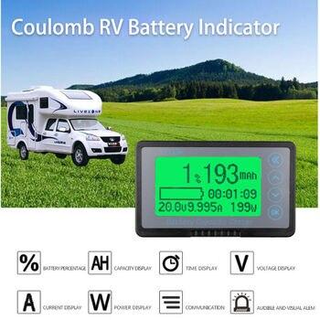 Battery Monitor DC 10-120v 350A digital coulomb meter AH SOC CAR RV Remaining Capacity lead-acid Li-ion lithium 12v 24v 36v 48v