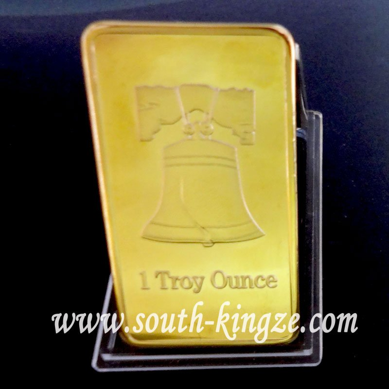 christmas gift! 1 troy ounce gold plated pure 999 gold