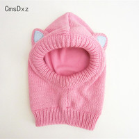 CmsDxz 3 8Years Baby Cap Cute Sequins Ear Cap Pink White High Quality Scarf Hat Baby