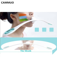 CAMMUO Facial Fitness Massager Slim Face Muscles Training Wand Anti Wrinkles Massager Smile Fitness Exercise Beauty
