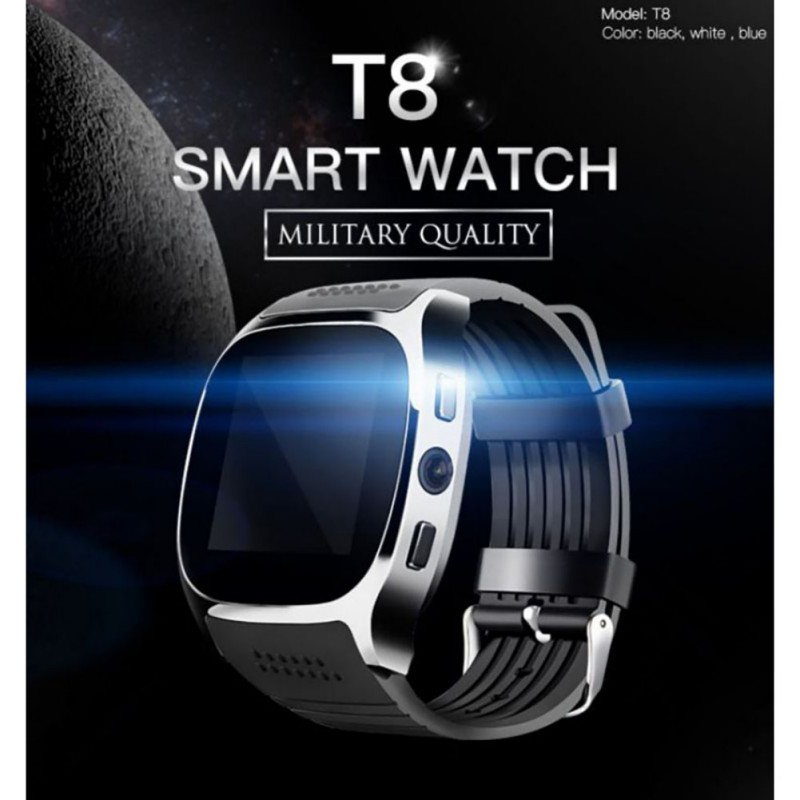 T8 Smart Watch Bluetooth Smartwatch Intelligent  Sport Pedometer For Phone Android Wrist Watch Support SIM TF Card Call