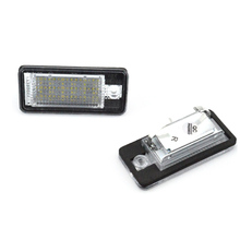 2Pcs 18 LED 3528 SMD License Plate Lights Lamps Bulbs for AUDI A3 8P A6 4F White