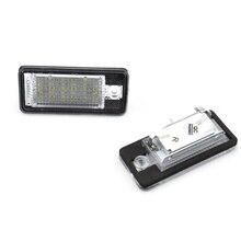 2 шт. 18 светодиодный 3528 SMD Подсветка регистрационного номера лампы для AUDI A3 8 P A6 4F белый