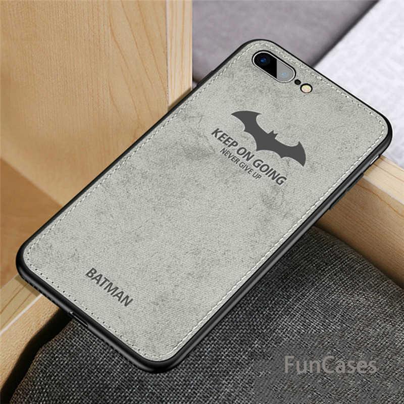 Mewah Batman Rusa Natal Kain Ponsel Case untuk iPhone 7 8 Plus Ultra Tipis Lembut Silicone Cover UNTUK iPhone X 10 X Max XR Kasus