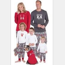 502d4a1e79be9 Nouveau Correspondant À La Famille pyjama de noël Enfants Bébé Garçons  Adulte Cerf ensembles de pyjama s Enfants de Pyjama Pour .
