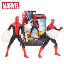 2019 14.5 centímetros Marvel Spider-man Brinquedos Longe de Casa WEB SOCO PVC Figura de Ação Do Homem Aranha Preto Peter Parker collectible Modelo Boneca