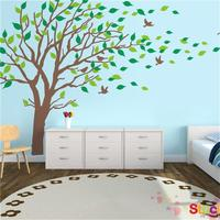 Large Size Living Room Tree Wall Stickers Decorative Sofa Bed Headboard Wall Decals Animal Home Wallpaper