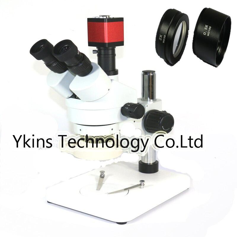 3.5X-90X Simul-Brenn Trinocular Stereo Mikroskop + 13MP VGA/HDMI digital mikroskop kamera Mit SZM0.5X SZM2.0X ziel objektiv