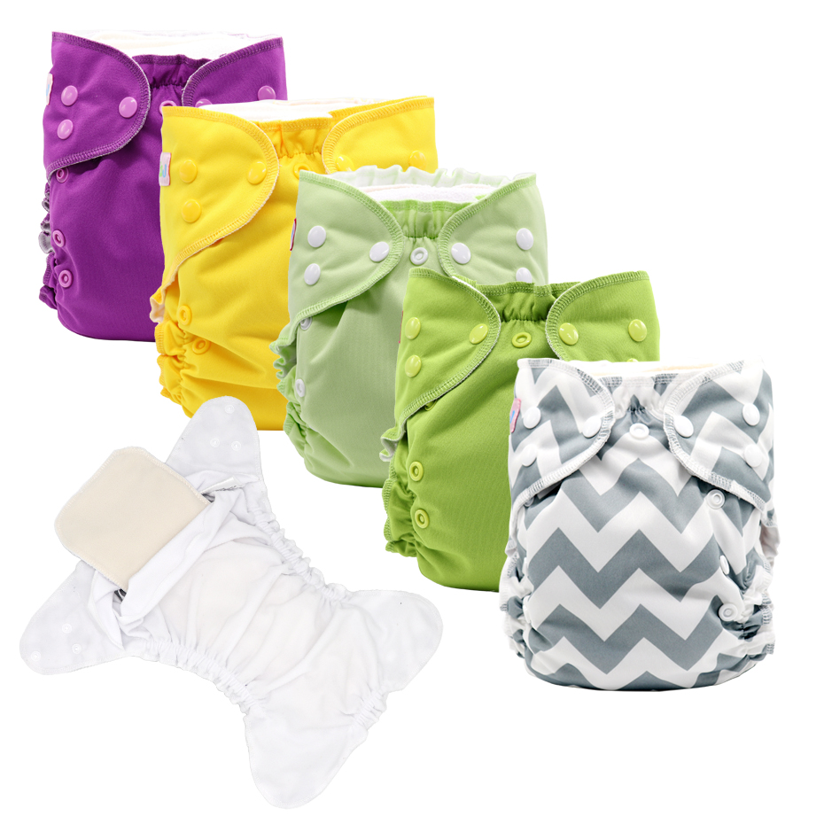 MABOJ Baby Cloth Diaper One Size Pocket Cloth Nappies With 4 Layers Insert  Reusable Adjustable Pocket Nappy For Boys And Girls