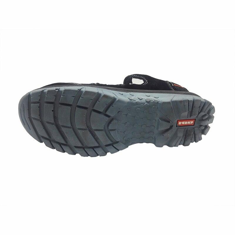 큰 사이즈 망 캐주얼 스틸 발가락 모자 작업 안전 여름 신발 부드러운 암소 가죽 샌들 펑크 증거 플랫폼 보안 부츠-에서작업 & 안전 부츠부터 신발 의  그룹 3