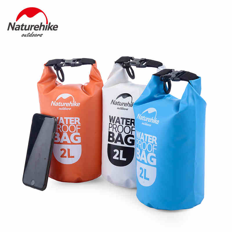 NatureHike High Quality Outdoor Waterproof Bags Ultralight Camping Hiking Dry Drifting Swimming 2L 5L 15L Bags waterproof 5l gray
