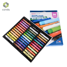 24 36 Colors Kid Crayon Oil Pastel Drawing Set Count Box Round Shape Soft Graffiti Children