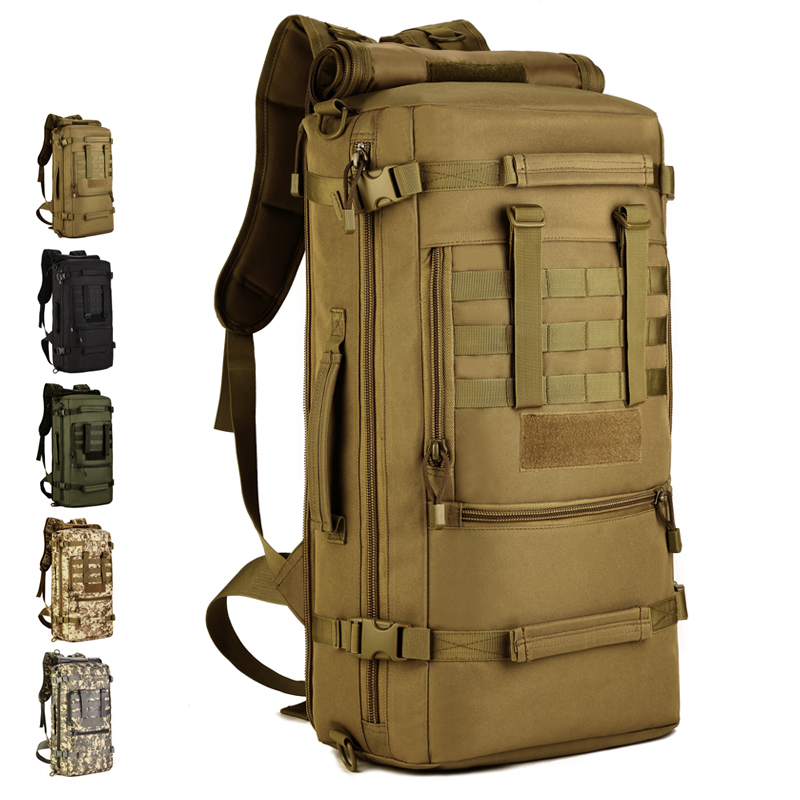 50L Large Portable Shoulder Outdoor Backpack Men Women Messenger Army Tactical Backpack Molle Hiking Camping Luggage