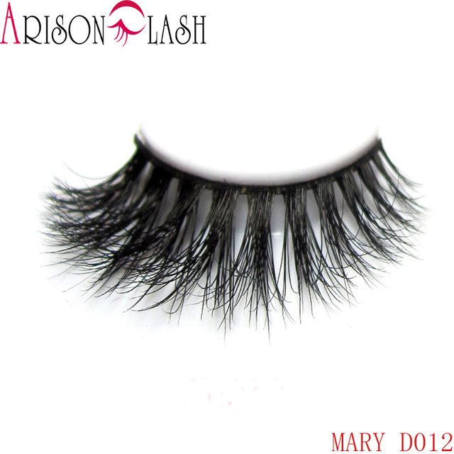 397628570e2 Arison Natural 3D Long Thick Authentic Mink False Eyelashes For Makeup 1  Pair Pack Full Strip
