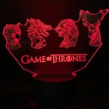 Game Of Thrones House logo led night lights for kids bedroom Stark Lannister Baratheon Targaryen child nightlight 3d