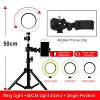 NEW 72 LED 3 Modes 5500K Dimmable Studio Camera Ring Fill Light Photo Phone VideoTripod Cloud Mobile Phone Holder