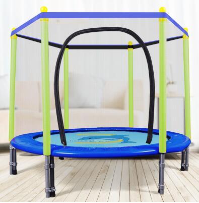 55 дюймов круглый детский мини-батут корпуса подкладка-сетка Rebounder прогулок на свежем воздухе - Цвет: blue