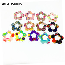 New arrival! 33x32mm 100pcs/lot acrylic Flower shape charm for earrings accessories,Earring parts,Jewelry Findings making