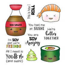 ZhuoAng Delicious food Transparent and Clear Stamp DIY Scrapbooking Album Card Making Decoration