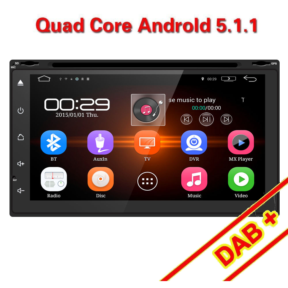 Double 2DIN 7 Android 7 1 Car Radio Stereo DVD Player GPS 3G wifi bluetooth