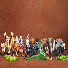 solid pvc figure wild animals models toys children birthday gift toys holiday gift ornaments 36pcs/set