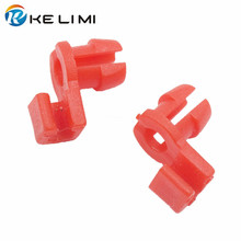 KELIMI 100Pcs Red Plastic Door Lock Rod Retaining Clip Universal Car Fastener Clips