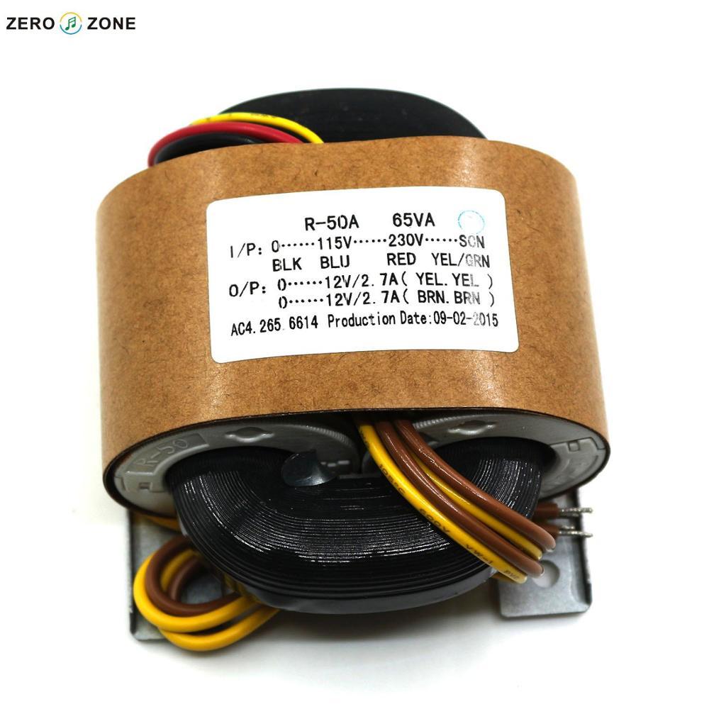 GZLOZONE 65W R CORE Transformer for audio DAC PSU AC115V 230V 12V 12V