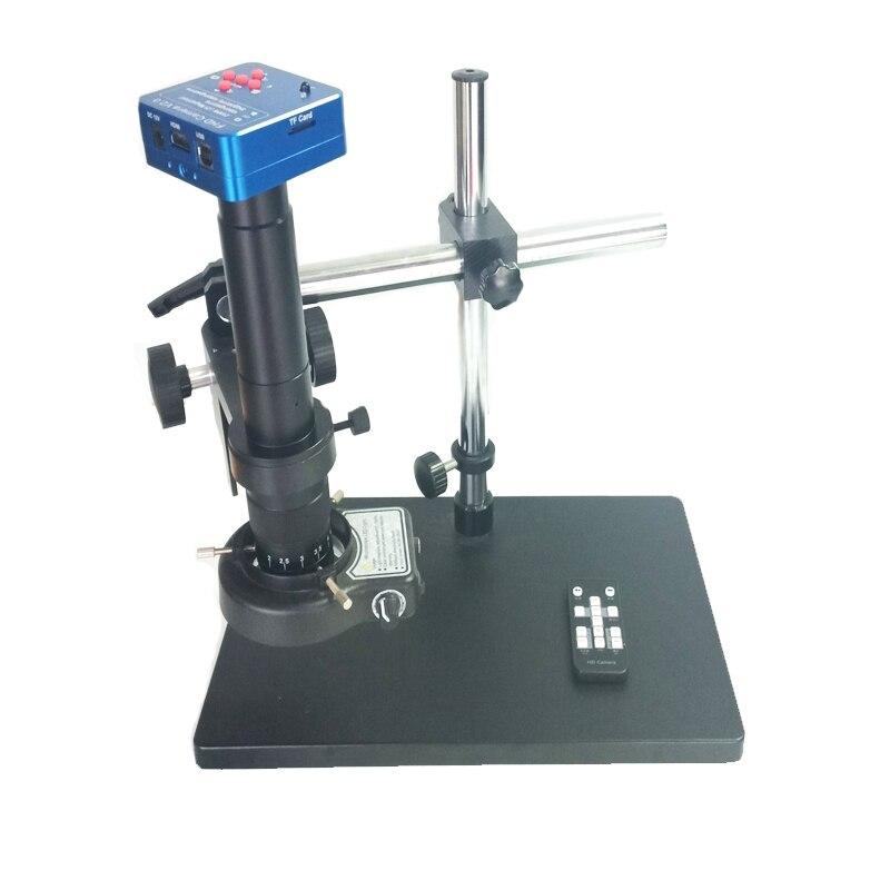 10X 180X 300X c-крепление объектива + 1080 P 60FPS 2 К K 2100 Вт 21MP HDMI USB цифровой видео микроскоп камера + Однорычажный микроскоп