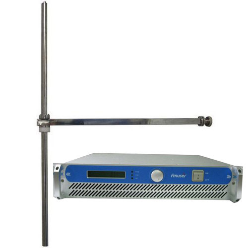 1000W FM Transmitter + 1KW dipole antenna + 35 meters cable with connectors complete set radio station