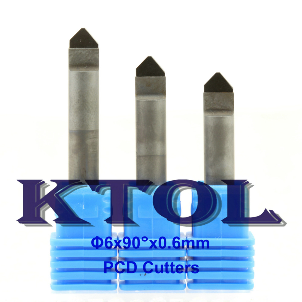 0 6mm 90 Angle PCD Diamond Stone Tools CNC Bit Router Cutter V Carving Engraving Bit