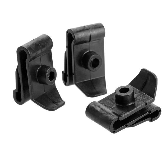 50 Unids Negro Auto Sujetadores Clips U Enchufe Sujetador Capucha Prop Varilla apoyo remaches diseño de coches kits de retención 5mm agujero para mazda toyota