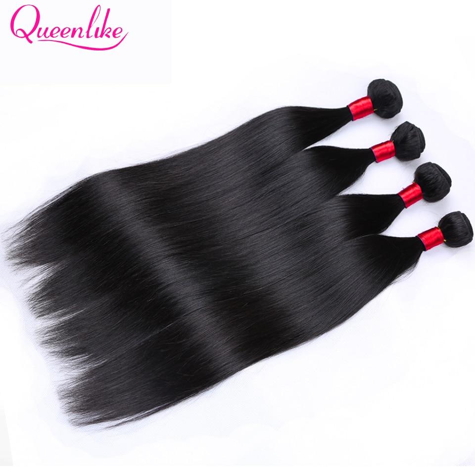 Queen Like Hair Products 1 Bundle / Piece 100% Human Hair Weave Non - Mänskligt hår (svart) - Foto 1