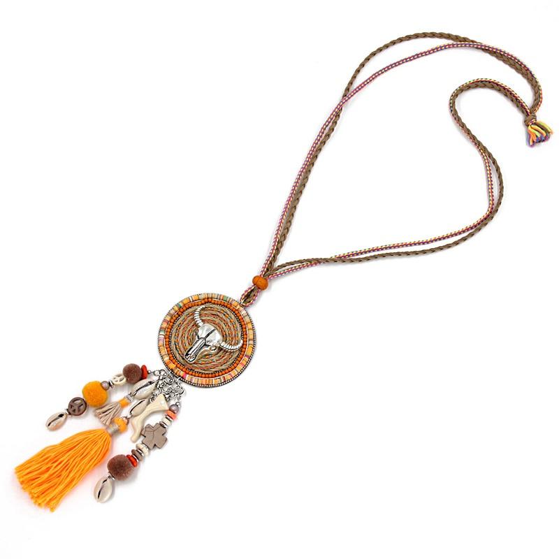 VONNOR Jewelry Handmade Halskette Damen Böhmen Accessoires Quaste - Modeschmuck - Foto 3