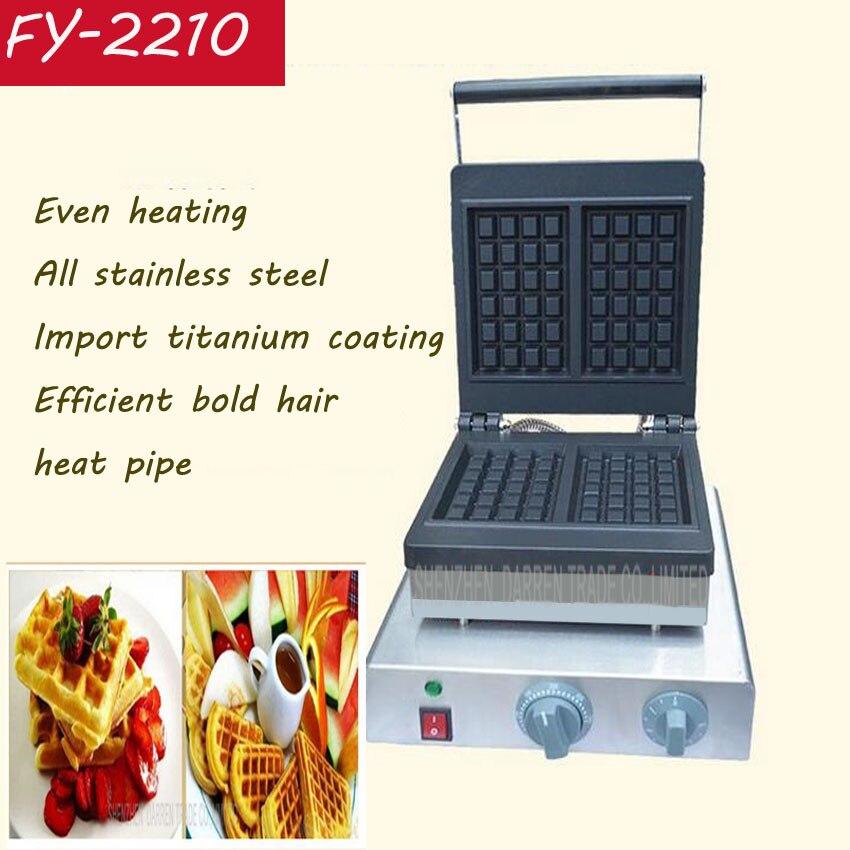 1 PC FY 2210 acier Inoxydable gaufrier gaufre machine commerciale ...