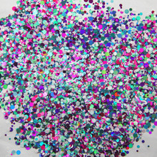 Mixed Dot  43-500grams/lot Mix Colors Round Spangle shape glitter Flake cosmetic powder for nail Gel (solvent resistant)
