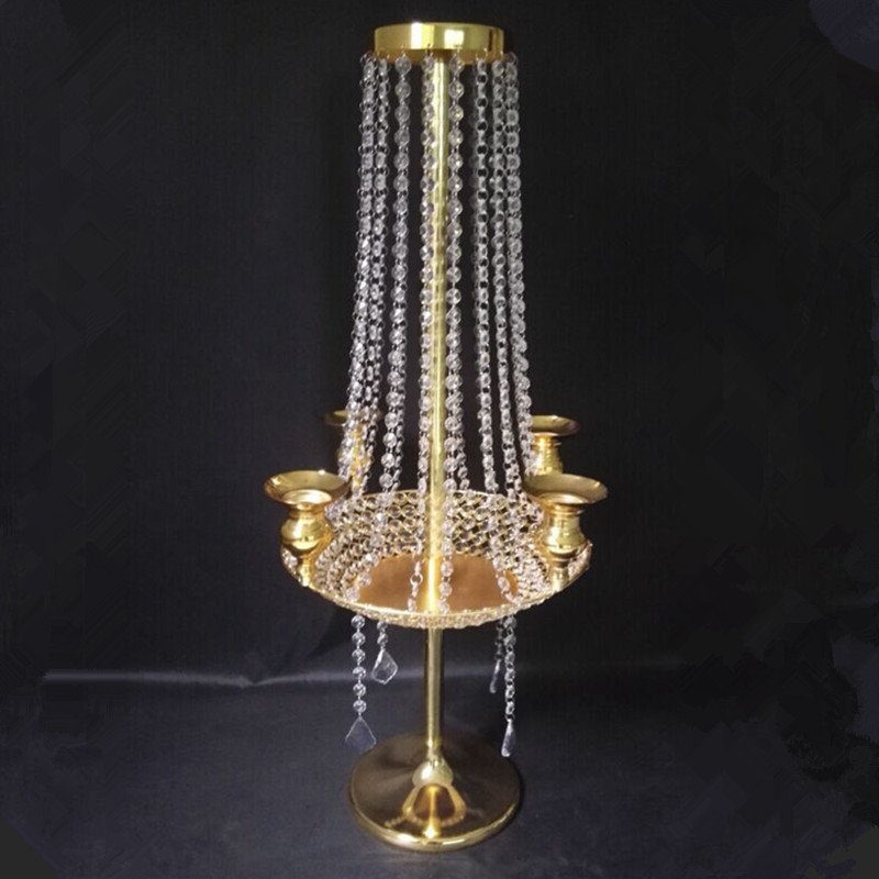 Free Shipping 90cm(H) wedding crystal table centerpiece chandelier candle holder Wedding road lead Banquet supply